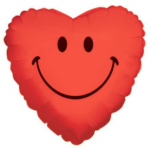 Globo Smiley Heart-red