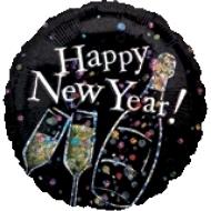 Globo Happy New Year Hpolografico