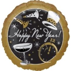 Globo Happy New Year Dorado C/copas