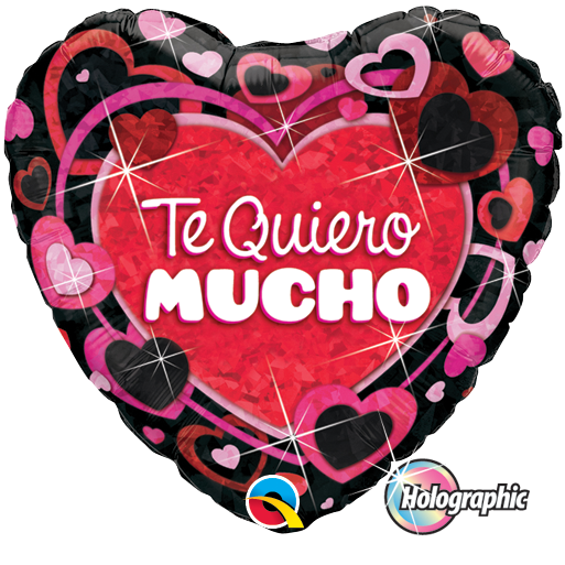 Globo Te Quiero Shimmering Hearts