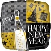 Globo Happy New Year Cuadrado