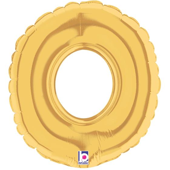 Globo Número 0 Dorado