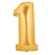 Globo Número 1 Dorado