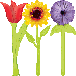 Globo Bpouquet Flores Y Mariposas
