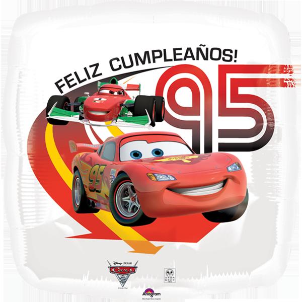 Globo Cars 2 Feliz CmpleaÑos