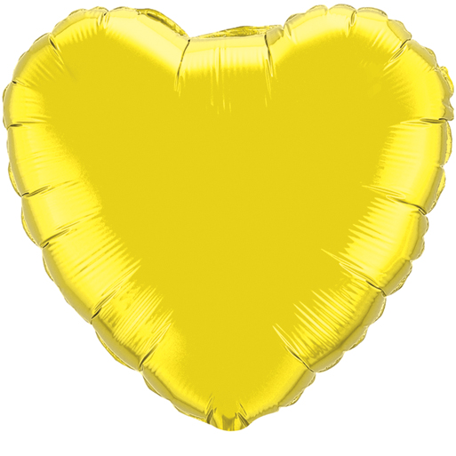 Globo Corazón Citrine Yellow