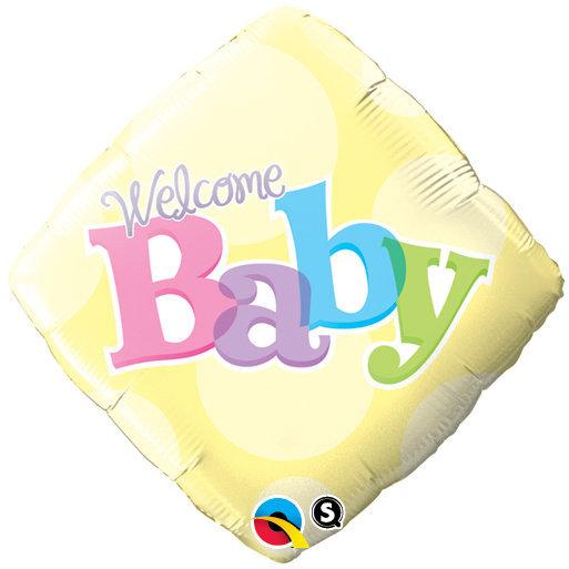 Globo Diamond Welcome Baby Yellow Dots