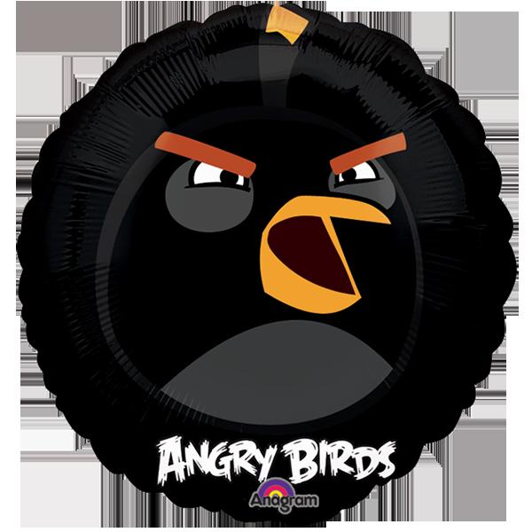 Globo Angry Birds King Negro