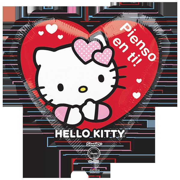 Globo Hello Kitty Pienso En Ti