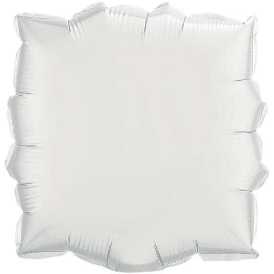 Globo Cuadrado Solido White