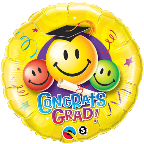 Globo Congrats Grad Smiley Faces