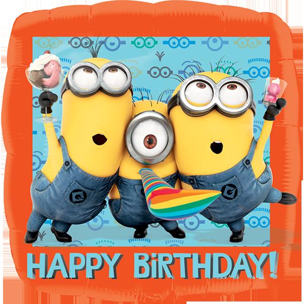 Globo Despicable Happy Birthday