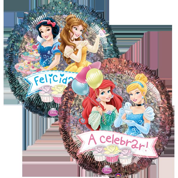 Globo Holo Princesas Fiesta
