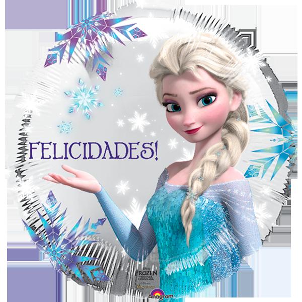 Globo Frozen Y Felicidades