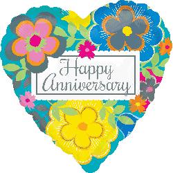 Globo Bright Floral Anniversary