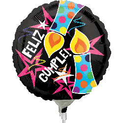 Globo Feliz Cumple Candles And Star