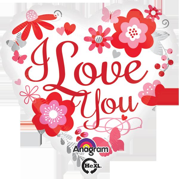 Globo I Love You Floral
