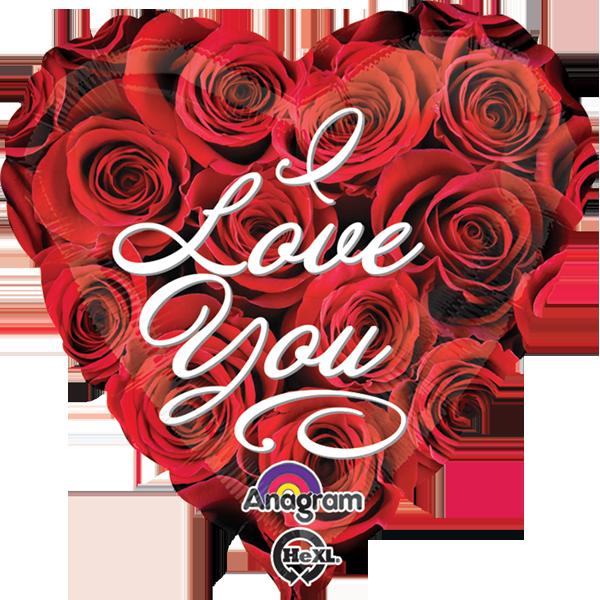 Globo I Love You Roses