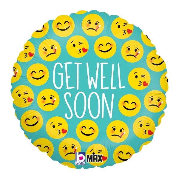 Globo Emoji Get Well Soon
