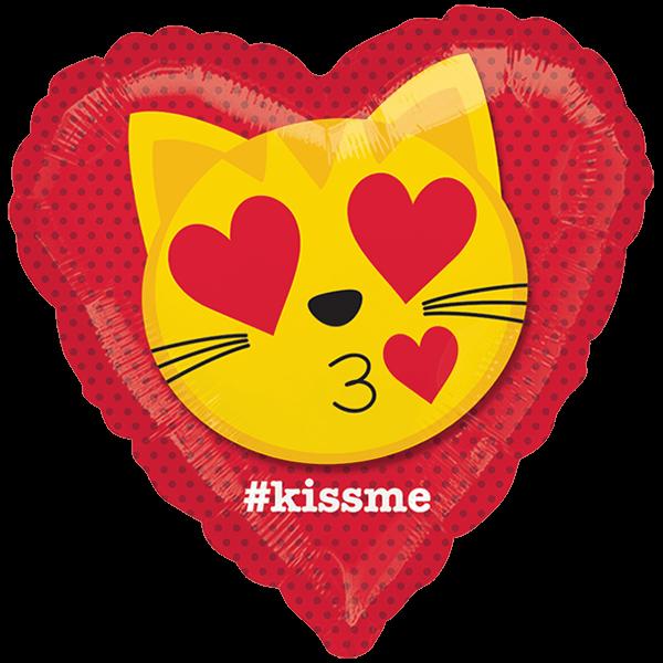 Globo Cat Emoticon Kiss