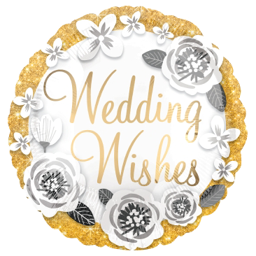 Globo Wedding Wishes Gold & Silver