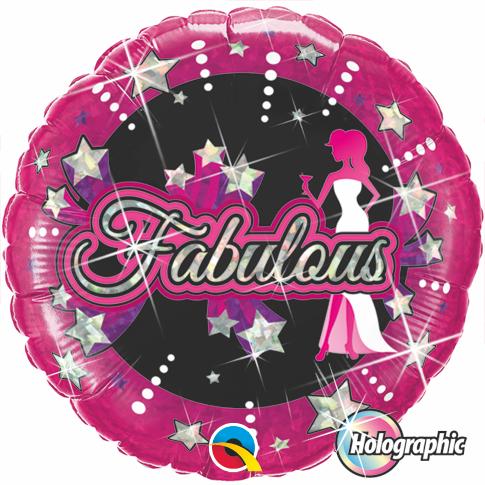 Globo Rnd Holog Fabulous Stars
