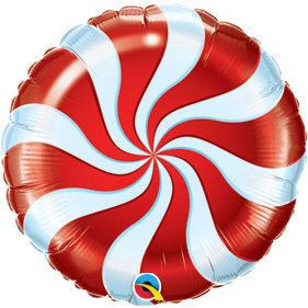 Globo Candy Swirl Rayas Red
