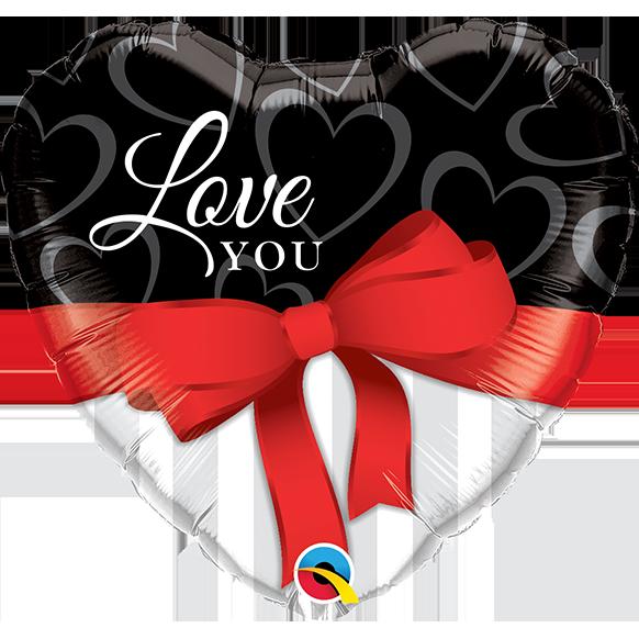 Globo Love You Red Ribbon