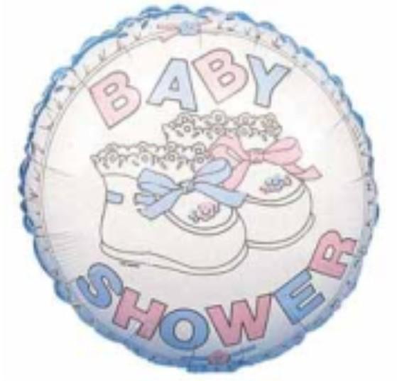 Globo Baby Shower Plateado