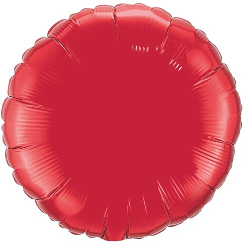 Globo Redondo Rojo