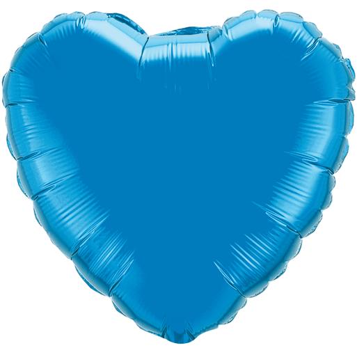 Globo Corazon Azul Zafiro