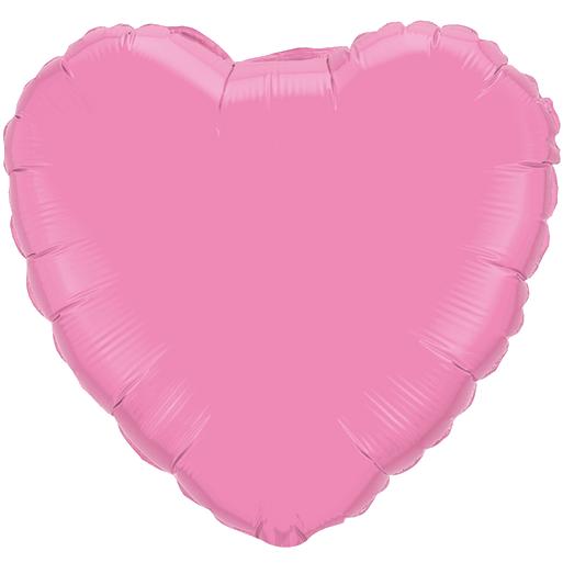Globo Corazon Rosado Perlado
