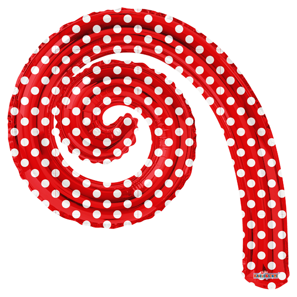 Globo Kurly Spiral Red