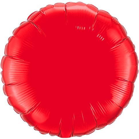 Globo Redondo Rojo  Solido