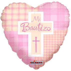 Globo Mi Bautizo  Pink