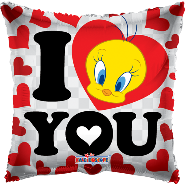 Globo I Love You Piolin Cuadrado