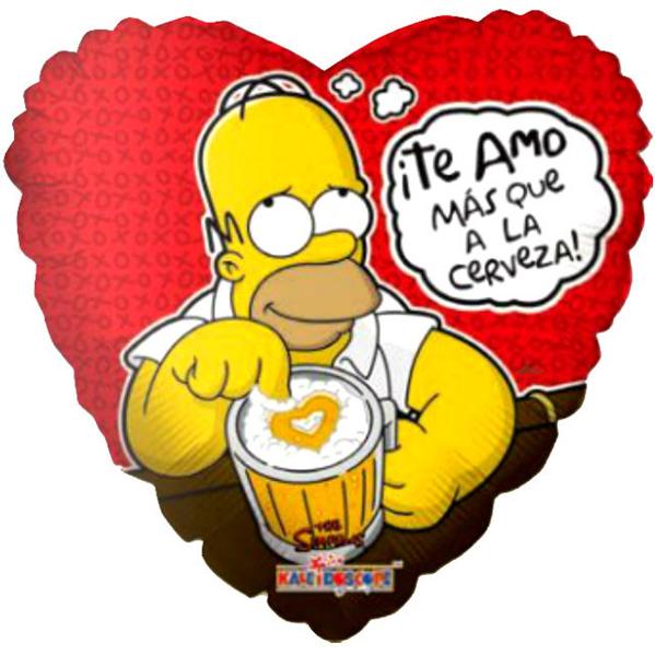Globo Homero Con Cerveza
