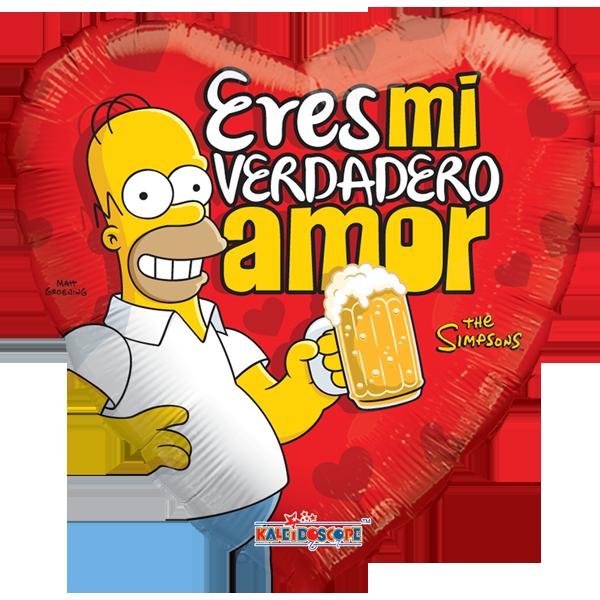 Globo Simpsons Eres Mi Verdadero Amor
