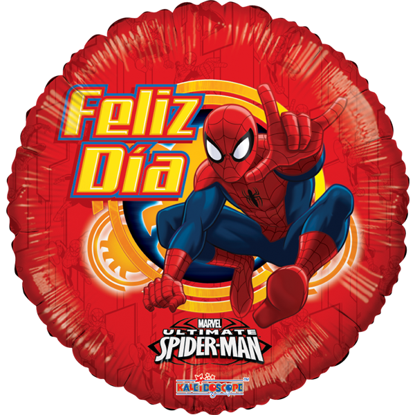 Globo Spiderman Feliz Dia
