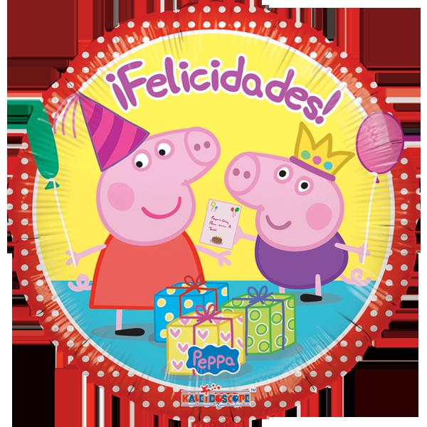 Globo Pepa Y George Felicidades
