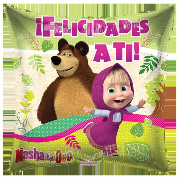 Globo Masha Y El Oso Felicidades A Ti