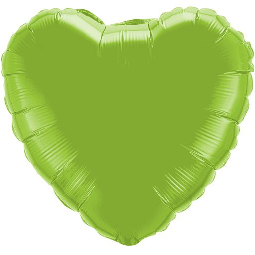 Globo Corazon Verde Limon Solido
