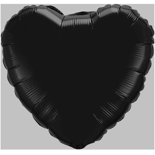 Globo Corazón Negro
