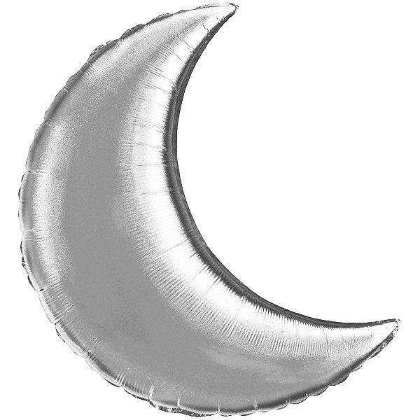 Globo Luna Plateada Solida
