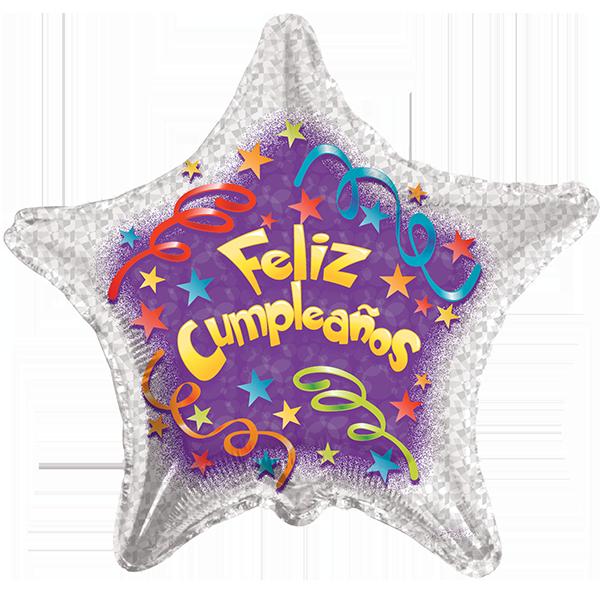 Globo Feliz Cumpleaños Serpentinas
