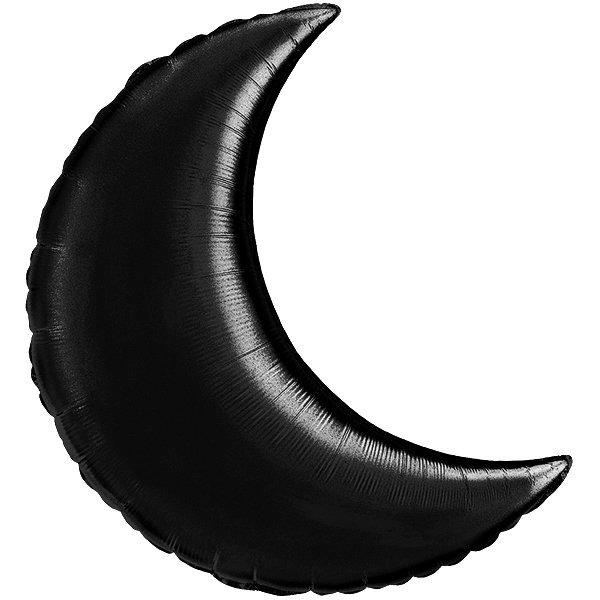 Globo Luna Negra Solida