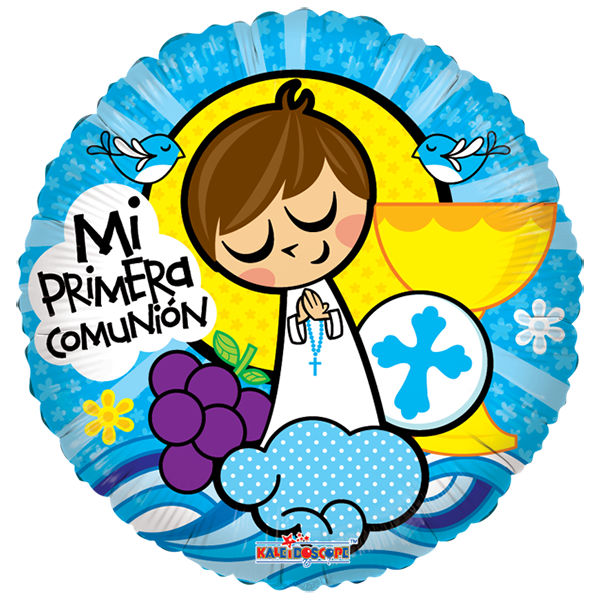 Globo Mi Primera Cominion Caliz Azul