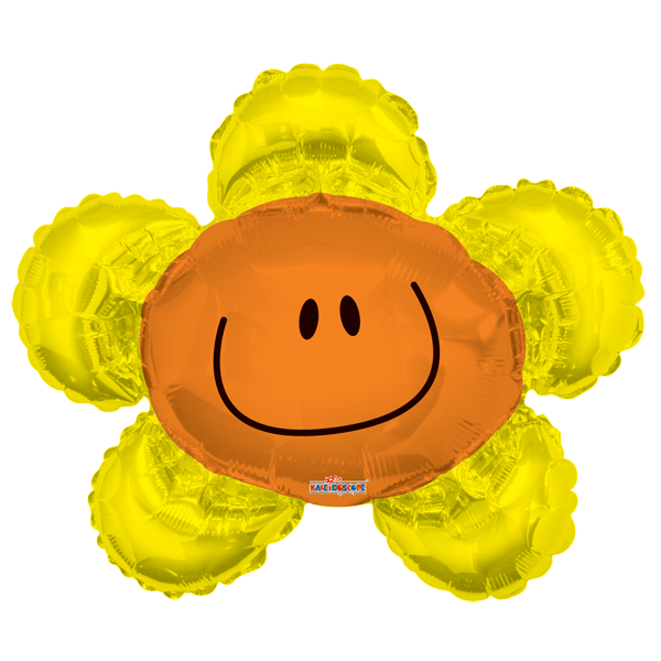 Globo Smiley Flor Amarilla