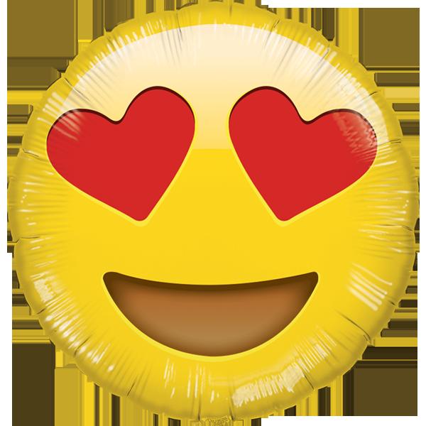Globo Emoji Enamorado