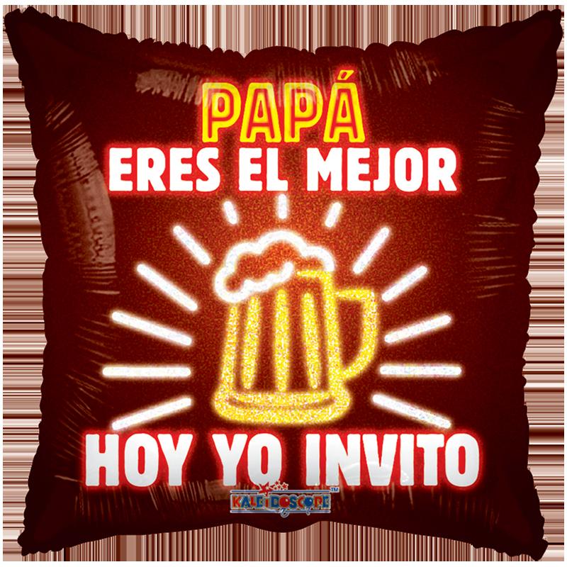 Globo Papá Eres El Mejor Hoy Yo Invito